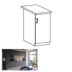 Spodní skříňka, dub artisan/šedý mat, pravá, LANGEN D40