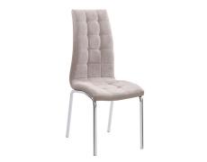 Jídelní židle, béžová / chrom, GERDA NEW