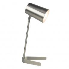 Stolní lampa, kov / matný nikl, FABEL