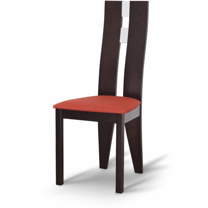 Dřevěná židle, wenge/látka terakota, BONA