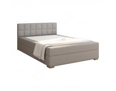 Boxpringová postel 140x200, světle šedá, FERATA KOMFORT