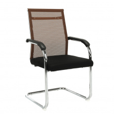 Zasedací stolička, hnědá / černá, ESIN