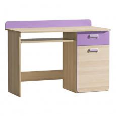 PC stůl, jasan/fialový, EGO L10