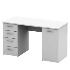 PC stůl, bílá, DTD laminovaná, EUSTACH