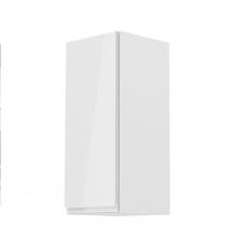 Horní skříňka, bílá / bílý extra vysoký lesk, ľravá, AURORA G30