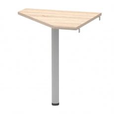 Rohový stolek, dub sonoma/kov, JOHAN 2 NEW 06