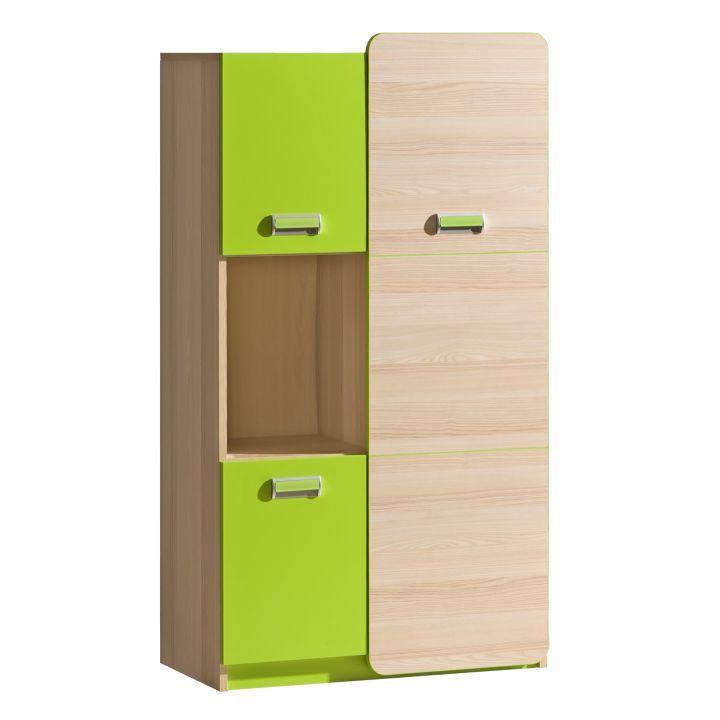 Skříňka, jasan/zelená, EGO L5