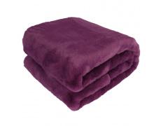 Kožešinová deka, fialová, 150x180, Rabita NEW TYP 6