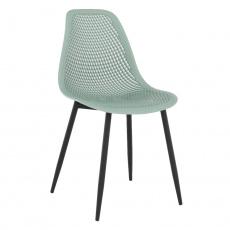 Jídelní židle, zelená / černá, TEGRA TYP 2