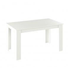 Jídelní stůl, bílá, 140x80, GENERAL NEW