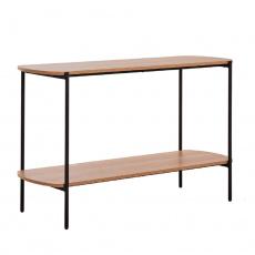 Konzolový stolek v industriálním stylu, akácie / černá, HOLAR