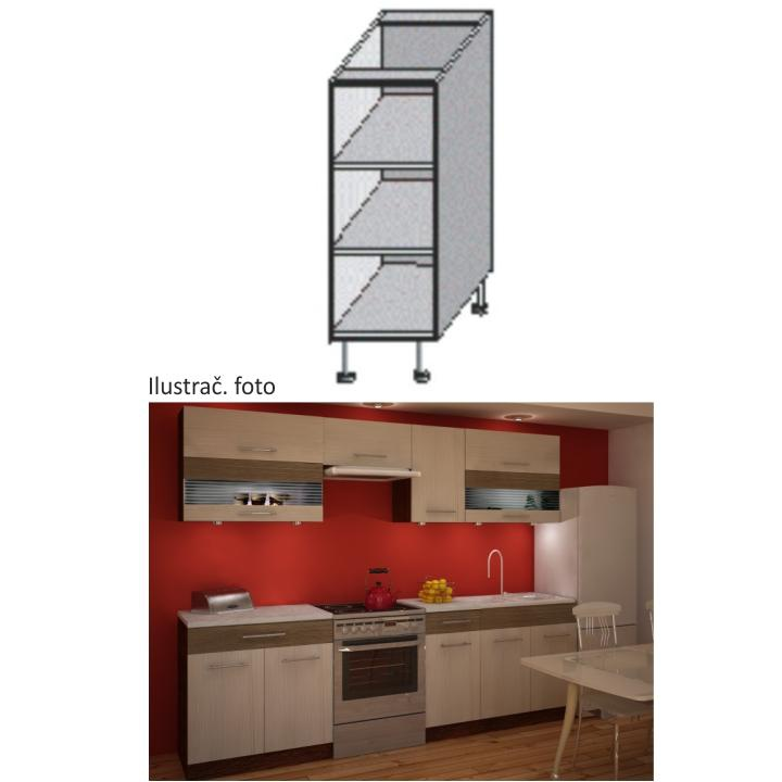 Kuchyňská skříňka policová, wenge, JURA NEW IA DO-20