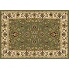 Koberec, zelená / mix barev / vzor, 67x120, KENDRA TYP 2