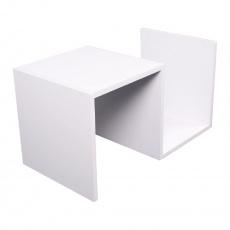 Příruční stolek/police, bílá, VALMAR