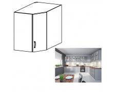 Horní skříňka, bílá / šedá matná, LAYLA G60N