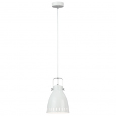 Visící lampa, bílá / kov, AIDEN typ3