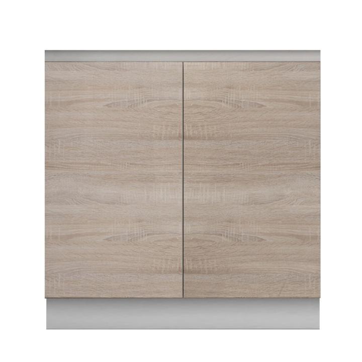 Skříňka dolní dvoudveřová dřezová, dub sonoma, LINE
