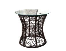 Příruční stolek, hnědá, SALMAR