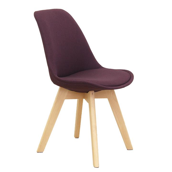 Židle, fialová / buk, LORITA