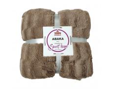 Oboustranná deka, hnědá, 150x200, ABAKA