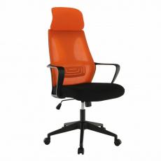 Kancelářské křeslo, černá/oranžová, TAXIS