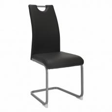 Jídelní židle, tmavěšedá, DEKOMA