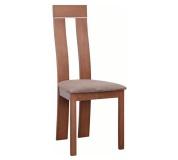 Dřevěná židle, třešeň / látka hnědá, DESI