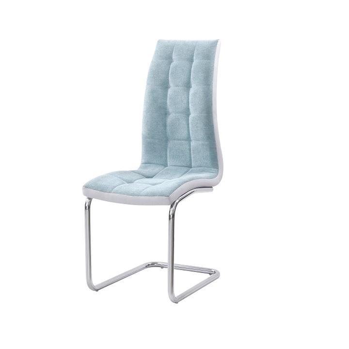 Jídelní židle, mentolová / chrom, SALOMA NEW