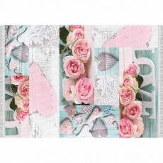 Koberec, vzor růže, 120x180, SONIL TYP 2