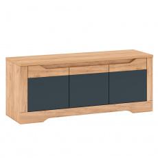 RTV stolek J, dub craft zlatý/grafit šedá, FIDEL