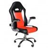 Kancelářské kreslo, ekokoža černá/červená, MARVIN NEW
