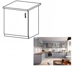 Spodní skříňka, šedá matná / bílá, levá, LAYLA D601F