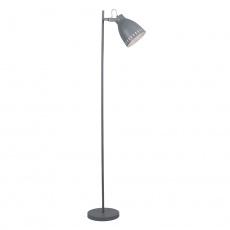 Stojací lampa, šedá / kov, AIDEN TYP 2