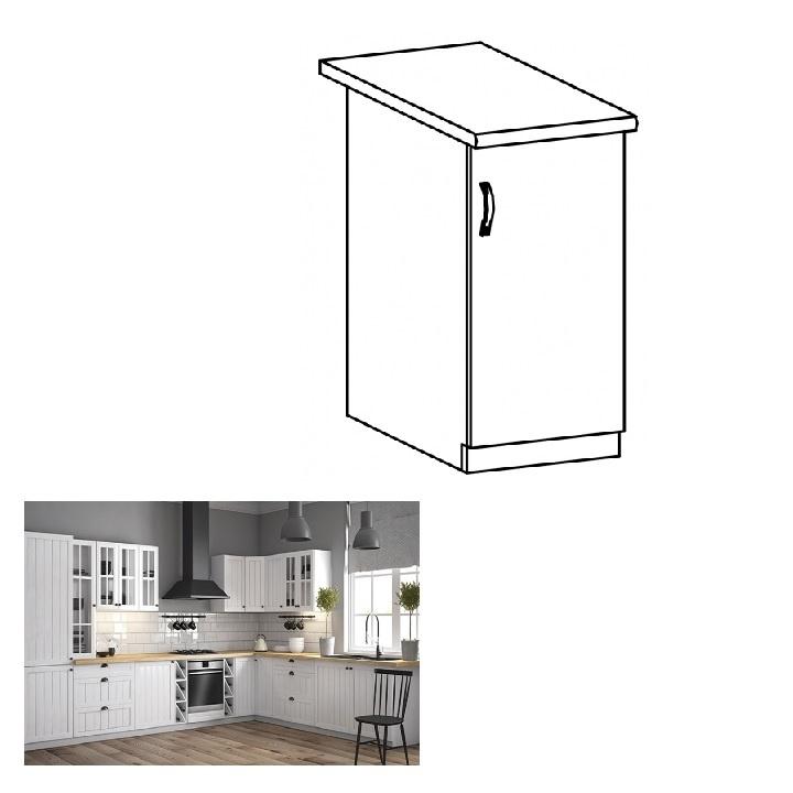 Spodní skříňka D40, pravá, bílá / sosna andersen, PROVANCE