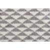 Koberec, krémově / šedá, 100x150, PIXEL