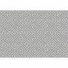 Koberec, bíla/šedá/vzor, 67x120, GADIR