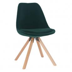 Židle, smaragdová Velvet látka / buk, SABRA