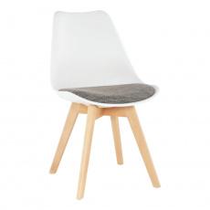 Židle, bílá / verzo hnědá, DAMARA