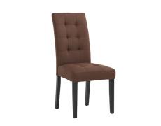 Jídelní židle, hnědá / černá, REFINA