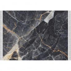 Koberec, vzor černý mramor, 80x150, RENOX TYP 1