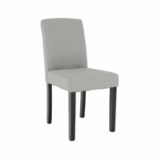 Jídelní židle, světle šedá/černá, SELUNA