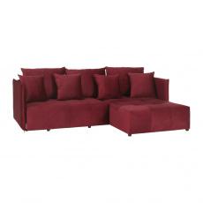 Univerzální sedací souprava, červená, LENY ROH