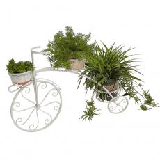 RETRO květináč ve tvaru kola, bílá, PAVAR