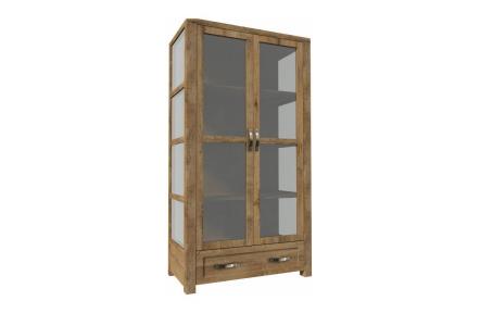 Třístranná vitrína W2D, dub lefkas, NEVADA