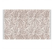 Koberec, béžová / vzor větev, 80x150, ARILA