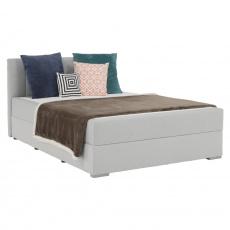 Boxspringová postel 140x200, světle šedá, FERATA KOMFORT