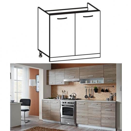 Skříňka do kuchyně, dřezová, dub sonoma / bílá, CYRA NEW DZ 80