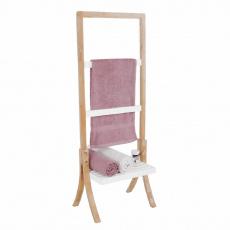 Stojan na ručníky, bambus/bílá, TENS