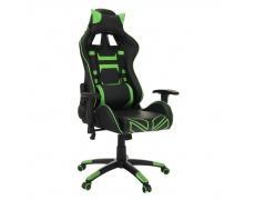 Kancelářské/herní křeslo, černá/zelená, BILGI