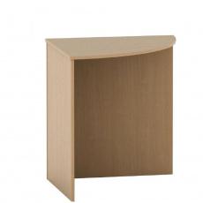 Stůl rohový obloukový, buk, TEMPO ASISTENT NEW 024
